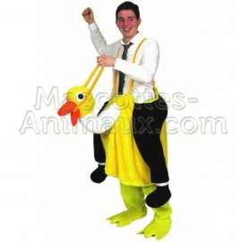 buy cheap yellow ostrich mascot costume. fancy yellow ostrich mascot costume. discount ostrich mascot.