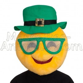 buy cheap smiley st patrick s day leprechaun head mascot costume. Fancy smiley head mascot costume. Discount smiley mascot.