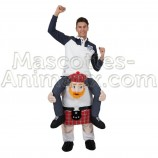 Buy cheap scottisch riding mascot costume. Fancy scottisch riding mascot costume. Discount scottisch riding mascot