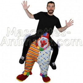 Achat riding mascotte clown pas chère. Déguisement riding mascotte clown. riding Mascotte discount clown.