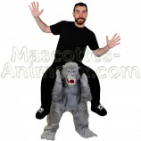 Buy cheap gorilla riding mascot costume. Fancy gorilla riding mascot costume. Discount gorilla riding mascot.