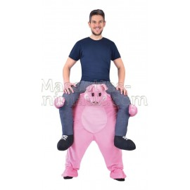 Buy cheap pig riding mascot costume. Fancy pig ridng mascot costume. Discount pig riding mascot.