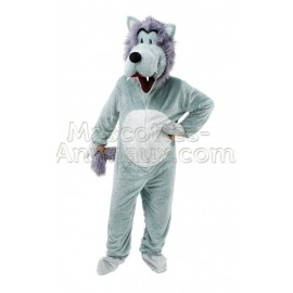 Buy cheap grey wolf mascot costume. Fancy grey wolf mascot costume. Discount wolf mascot.