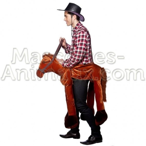 Buy cheap cowboy horse riding mascot costume. Fancy cowboy horse riding mascot costume. Discount horse riding mascot.