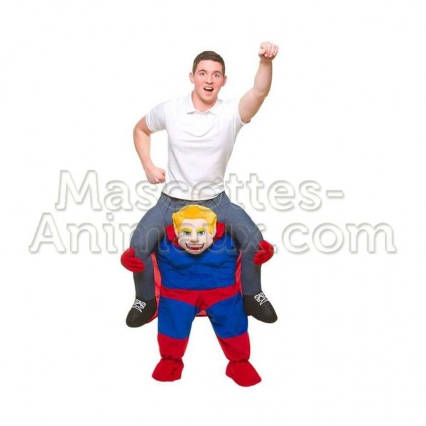 Achat riding mascotte superman pas chère. Déguisement riding mascotte superman. Riding Mascotte discount superman.