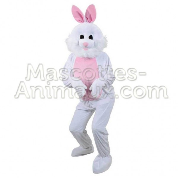 buy cheap pink and white rabbit mascot costume. fancy pink and white rabbit mascot costume. Discount Rabbit Mascot.