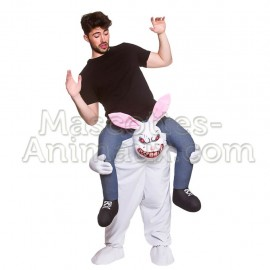 Buy cheap Evil Rabbit mascot costume. Evil Rabbit riding mascot.
