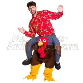 Buy cheap Turkey mascot costume. Riding Turkey mascot costume christmas.