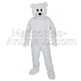 Buy cheap polar bear mascot costume. Fancy polar bear mascot costume. Discount bear mascot.