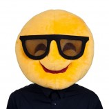 disguise mascot head smiley glasses