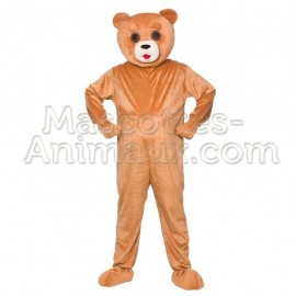 Buy cheap ted bear mascotte costume. Fancy bear mascot costume. Discount bear mascot.