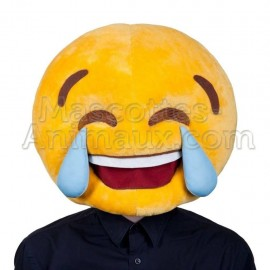 buy cheap crying smiley mascot head costume. Fancy crying smiley mascot head costume. Discount smiley mascot head.
