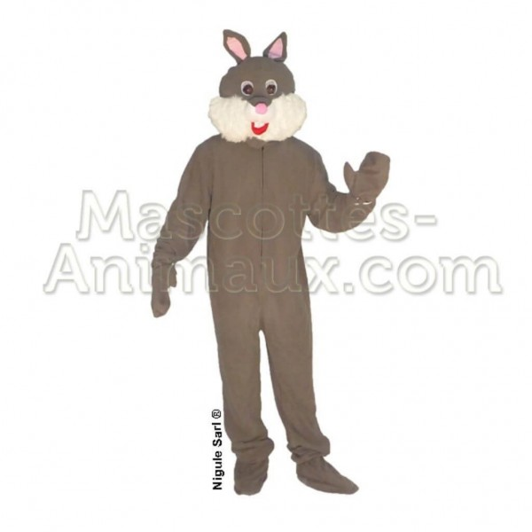 Buy cheap grey rabbit mascot costume. Fancy rabbit mascot costume. Discount rabbit mascot.