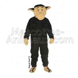 Buy cheap black sheep mascot costume. Fancy sheep mascot costume. Discount sheep mascot.